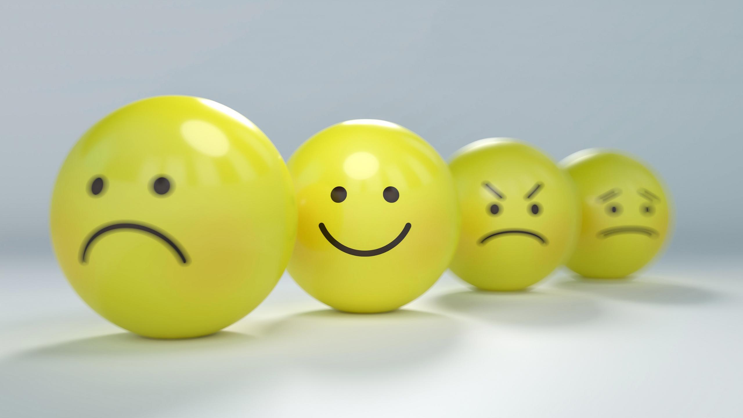 emojis amarelos com variadas expressões ilustrando diversas emoções